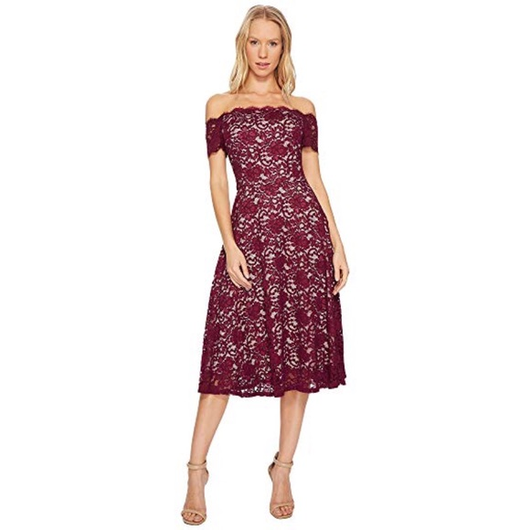 4bdf795f Adrianna Papell Dresses & Skirts - ADRIANNA PAPELL OFF SHOULDER LACE FIT  FLARE DRESS